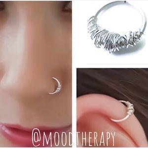 925 Sterling Silver cartilage/nose Hoop